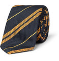 Drake's - Striped Silk-Grenadine Tie