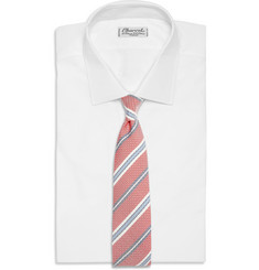Drake's Striped Woven-Silk Tie
