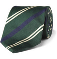 Drake's Striped Silk-Twill Tie