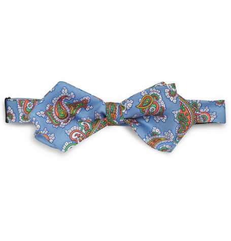 Drake's Paisley-Patterned Silk Bow Tie