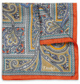 Drake's - Paisley-Print Silk Pocket Square