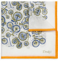 Drake's Bicycle-Print Cotton Pocket Square