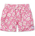 Pink House Mustique - Mid-Length Floral-Print Swim Shorts