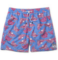 Pink House Mustique - Mid-Length Stingray-Print Swim Shorts