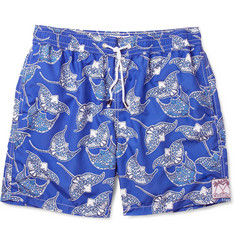 Pink House Mustique Mid-Length Stingray-Print Swim Shorts