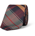 Alexander Olch Check Wool-Twill Tie
