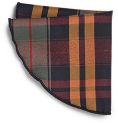 Alexander Olch Check Wool-Twill Pocket Round