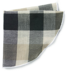 Alexander Olch Check Woven-Cotton Pocket Round