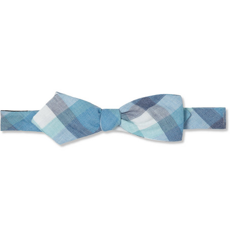 Alexander Olch Check Cotton Bow Tie