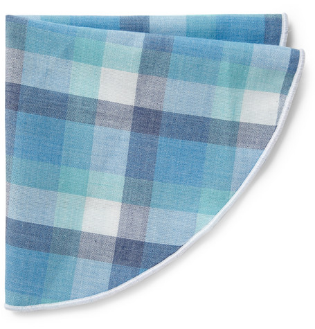 Alexander Olch Check Cotton Pocket Round