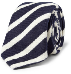 Alexander Olch Striped Knitted Cotton Tie