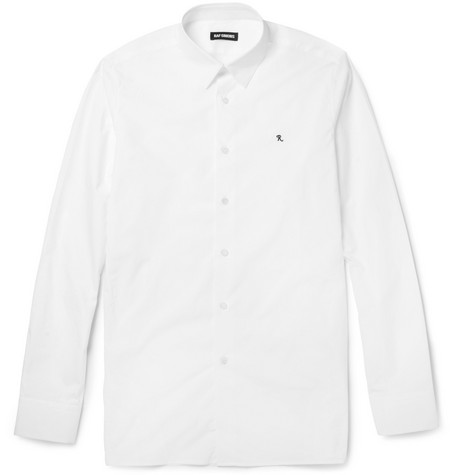 Raf Simons Slim-Fit Monogrammed Cotton Shirt