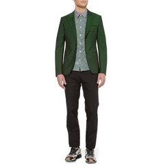 Raf Simons Press Stud-Fastened Wool-Blend Blazer