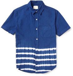 Band of Outsiders Tie-Dye Striped Cotton Shirt