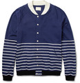 Band of Outsiders - Striped Cotton-Jersey Baseball Jacket