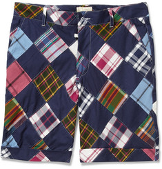 Band of Outsiders Patchwork Madras-Check Cotton Shorts