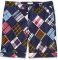 Band of Outsiders - Patchwork Madras-Check Cotton Shorts