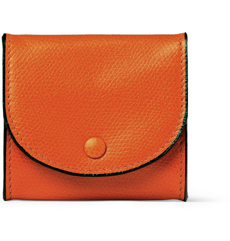 Valextra Textured-Leather Coin Case
