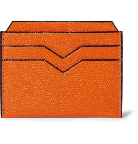 Valextra Cross-Grain Leather Card Holder