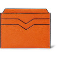 Valextra - Cross-Grain Leather Card Holder