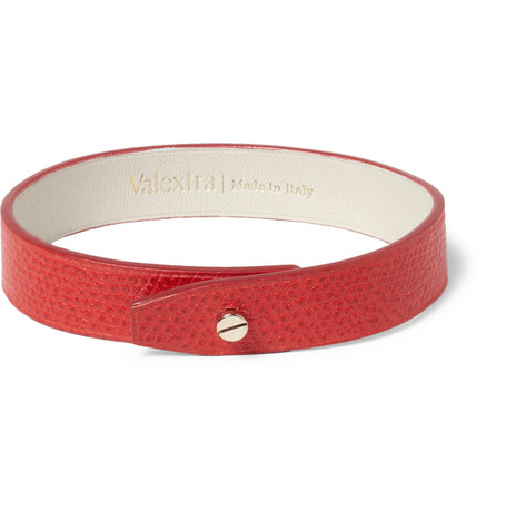 Valextra Full-Grain Leather Bracelet