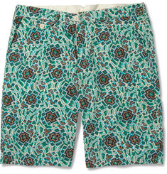 Hartford Printed Cotton and Linen-Blend Shorts