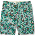 Hartford - Printed Cotton and Linen-Blend Shorts