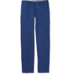 Hartford Brushed-Cotton Trousers