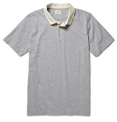 Hartford Contrast-Collar Cotton-Jersey Polo Shirt