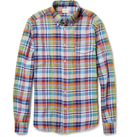 Hartford Madras-Check Cotton Shirt