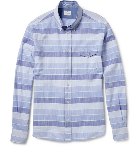 Hartford Striped Cotton Shirt
