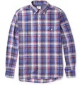 Hartford Check Cotton Button-Down Collar Shirt