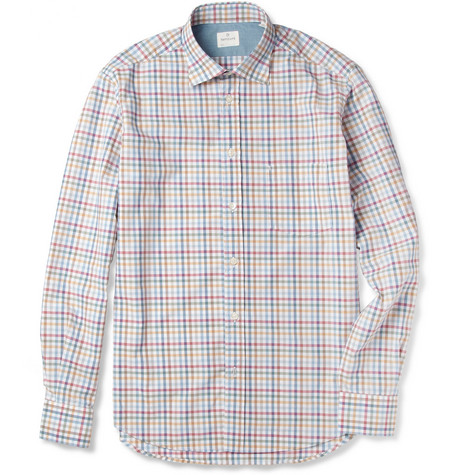Hartford Gingham Cotton Shirt