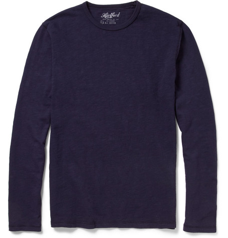 Hartford Long-Sleeved Cotton Slub-Jersey T-Shirt