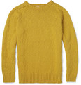 Hartford Knitted Slub-Cotton Crew Neck Sweater