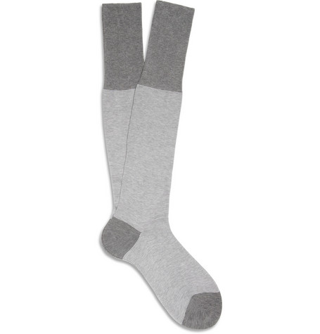 Bresciani Fine-Striped Cotton Socks