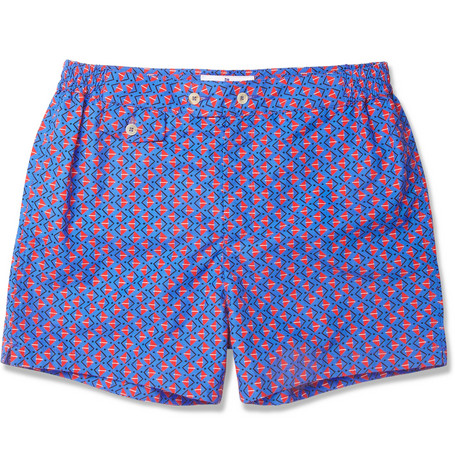 Chucs Positano Printed Short-Length Swim Shorts