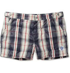 Robinson les Bains Oxford Short-Length Plaid Swim Shorts