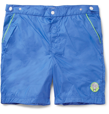 Robinson les Bains Oxford Long Mid-Length Swim Shorts