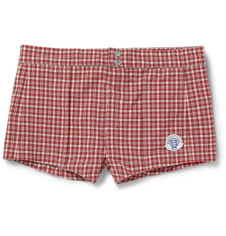 Robinson les Bains Capri Short-Length Plaid Swim Shorts