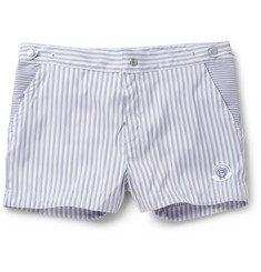 Robinson les Bains Oxford Short-Length Striped Swim Shorts