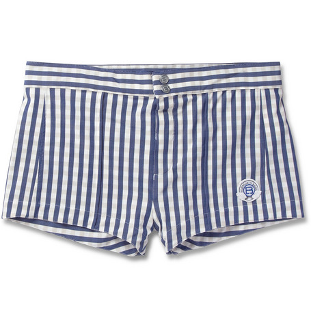 Robinson les Bains Capri Short-Length Gingham Swim Shorts