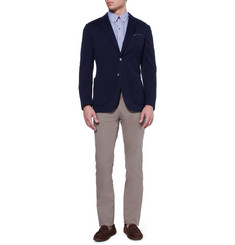 Canali Kei Slim-Fit Unstructured Cotton-Blend Blazer