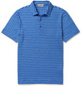 Canali Striped Linen-Blend Polo Shirt