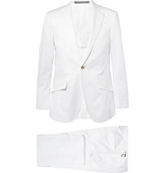 Richard James White Cotton-Twill Suit