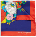 Richard James Floral-Print Silk Pocket Square