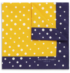 Richard James Polka Dot Cotton Pocket Square