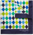 Richard James Harlequin Silk Pocket Square