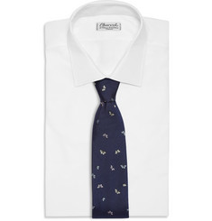 Richard James Butterfly-Patterned Silk Tie