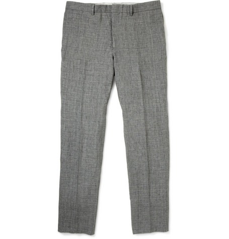 PS by Paul Smith Grey Check Linen Suit Trousers